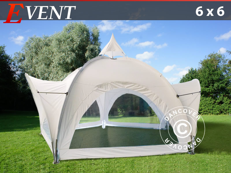 Evento tenda 6x6m con finestre