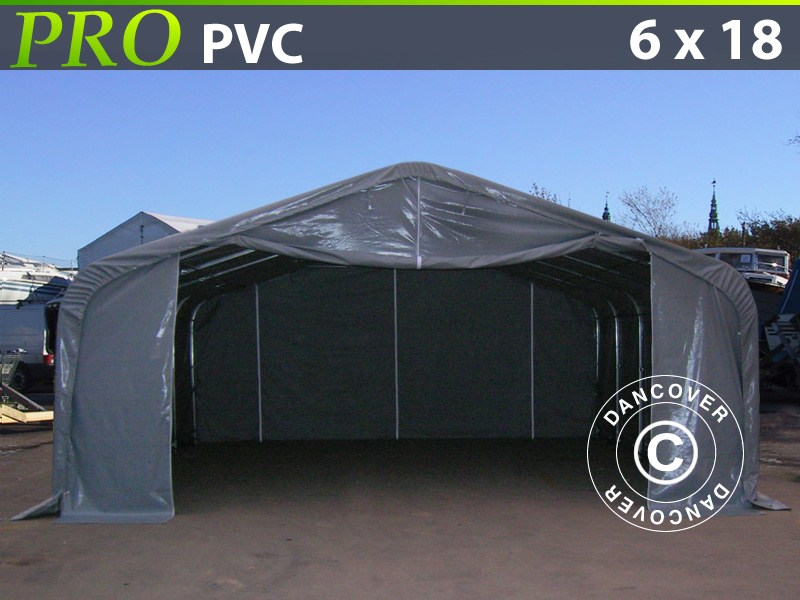 Capannone tenda-PRO-6X18X37-M-PVC