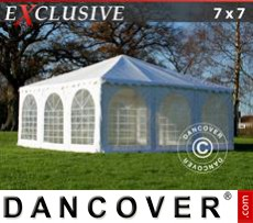 Gazebo Per Feste Exclusive 7x7m PVC, Bianco