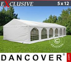 Gazebo Per Feste Exclusive 5x12m PVC, Bianco