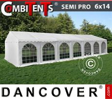 Gazebo Per Feste SEMI PRO Plus CombiTents® 6x14m, 5 in 1