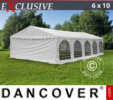 Gazebo Per Feste Exclusive 6x10m PVC, Bianco
