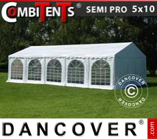 Gazebo Per Feste SEMI PRO Plus CombiTents® 5x10m, 3 in 1