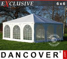 Gazebo Per Feste Exclusive 6x6m PVC, Bianco