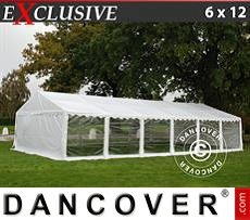 Gazebo Per Feste Exclusive 6x12m PVC, Bianco, Panorama