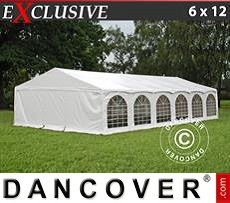 "Gazebo Per Feste Exclusive 6x12m PVC, ""Arched"", Bianco"