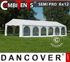 Gazebo Per Feste SEMI PRO Plus CombiTents® 6x12m, 4 in 1